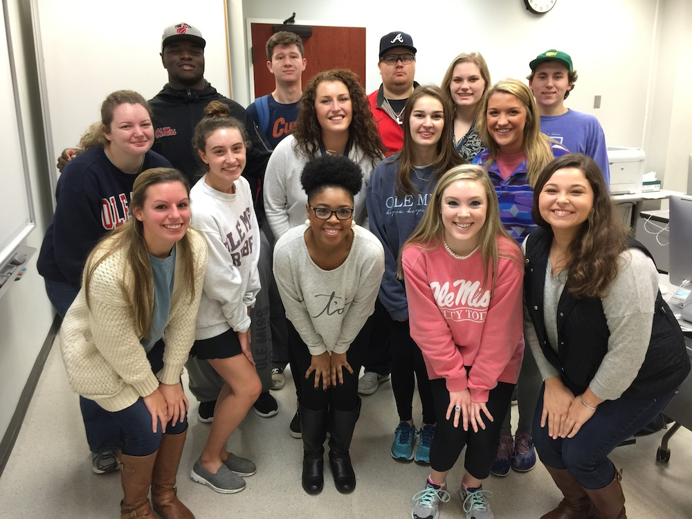 Class 1. Front row, from left: Allison Fazio, Ashley Gambrel, Hannah Simmons, Lana Ferguson; middle row, from left, Shelby Nichols, Jac Bedrossian, Chloe Riley, Elizabeth Wilks Parry, Kara Knapik; back row, from left, Herbert Moore, Connor Heitzmann, Tyler Bullard, Rachel Anderson and Carson Horn.
