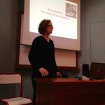 Kathleen Wickham lectures at the Sorbonne