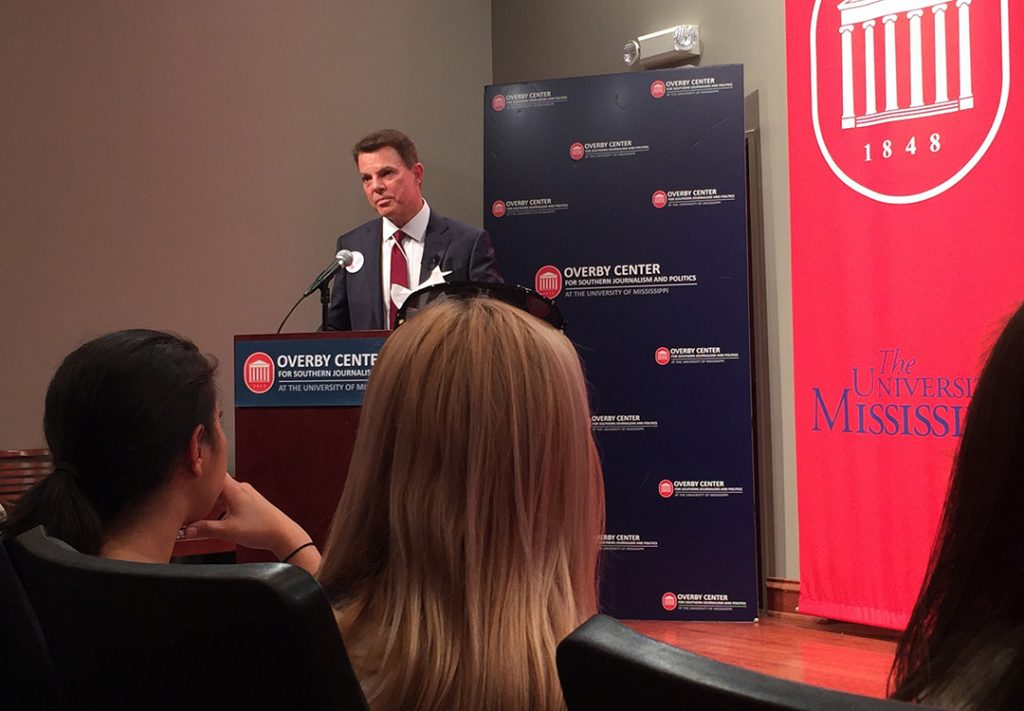Fox News anchor Shepard Smith speaks about his Meek School of Journalism roots and life